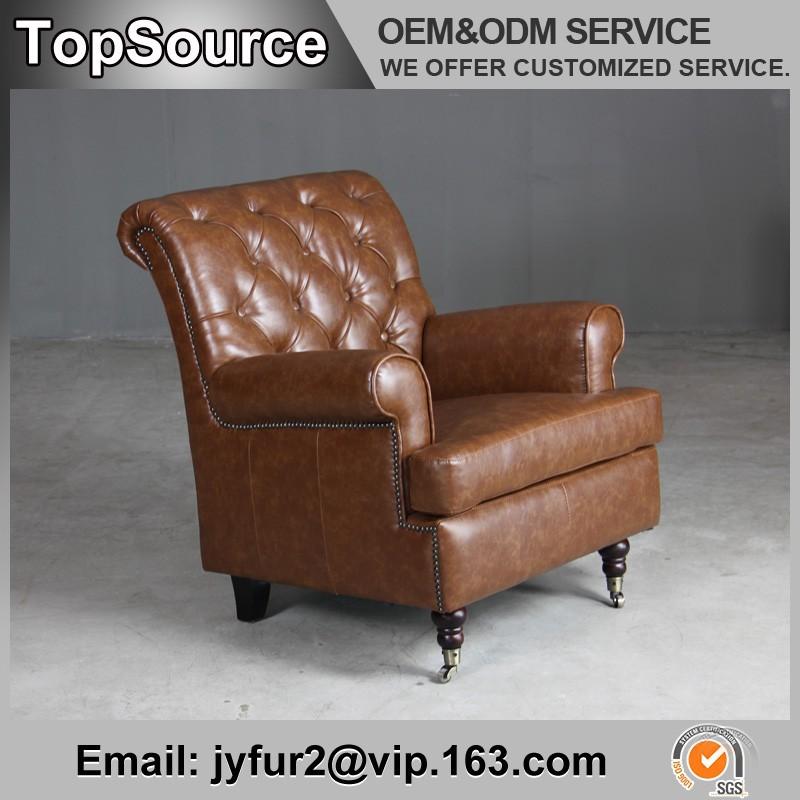 Mordern Single Sofa Chair With Wheels,Single Sofa Chair In Vintage Leather    Buy Single Sofa Chair,Sofa Chair With Wheels,Vintage Leather Sofa Chair  Product ...
