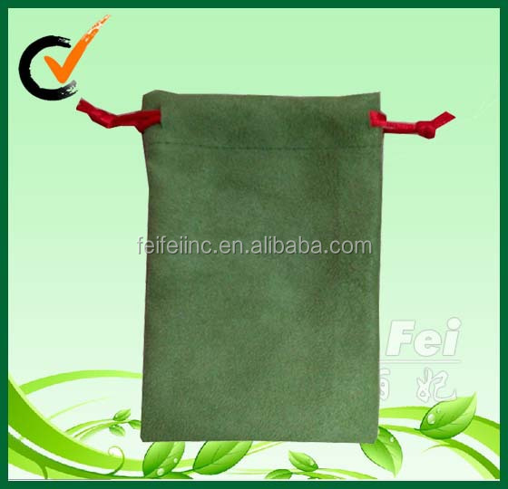 Suede magic design nylon drawstring bag for jewellery package