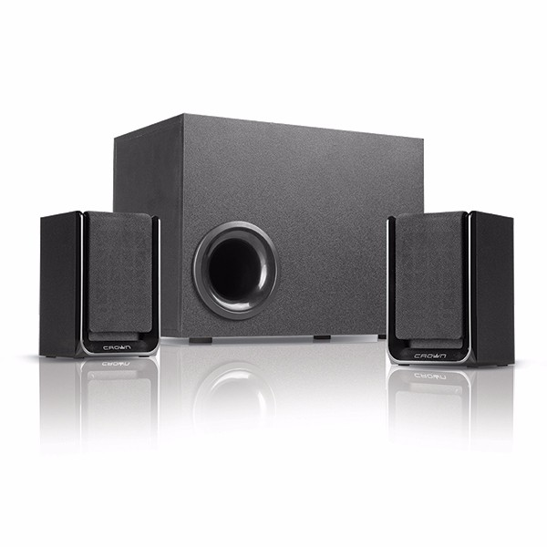 Crown micro high quality mini 2.1 multimedia speaker system creative design with subwoofer