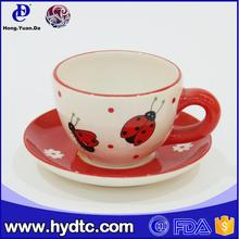 Royal elegent coffee shop use continental ceramic coffee cup and saucer