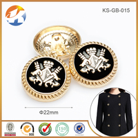 High Quality Gold Plated With Black Epoxy Garment Metal Button