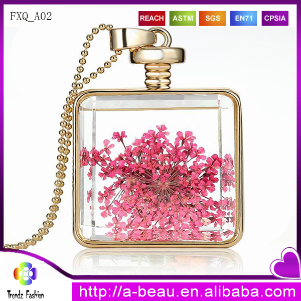 2016 Fashion Real Dried Flower Necklace For Gift FXQ_<strong>A02</strong>