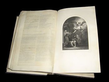 Bible from the year 1744 book