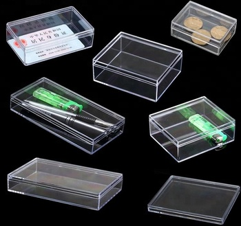 Small clear round PS plastic box for packing with lid