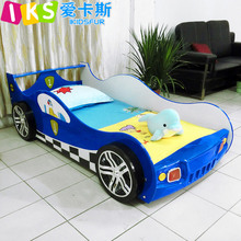 Modern style kids racing car bed