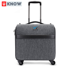 China supplier cheap casual suitcase linen travel luggage 4 wheels trolley bag