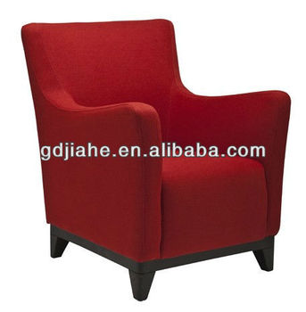 New style red fabric leisure chair , French Livingroom chair