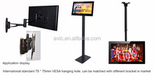 22 inch Android 6.0 OS Wall Mounted Digital Signage kiosk VESA holes fast food menu board for restaurant commercial display