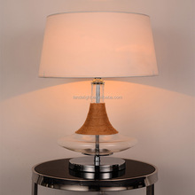 modern glass base and hemp rope table lamp with fabric shade table lights hot selling