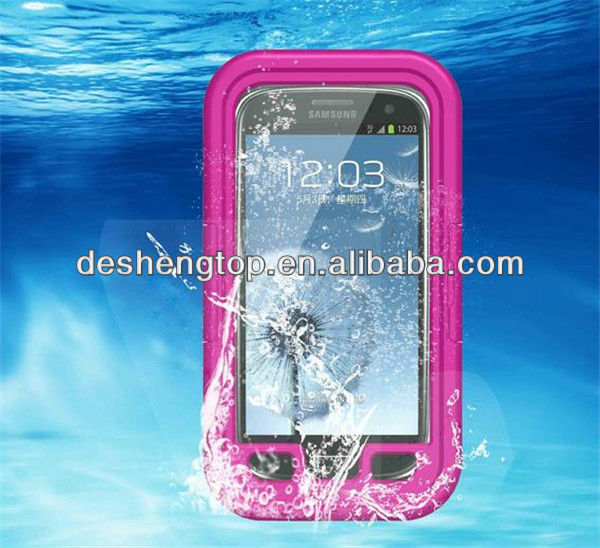 New arrive waterproof cell phone case protector for samsung I9500 I9295 S4