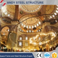High quality Space Frame Covering Mosque Dome Roofing