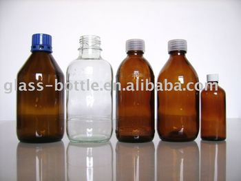 glass solvent bottle
