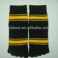 Boxi-High quality two-color five fingers knitted socks