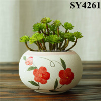 Pot For Flower White Printing Decal