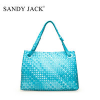 spain hot sale Handle style woven bags comfortable color for lady make up case bags retail sale