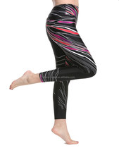 Black Sexy Tight Pants Women's Colorful Printed Gym Sports Yoga Leggings Pants