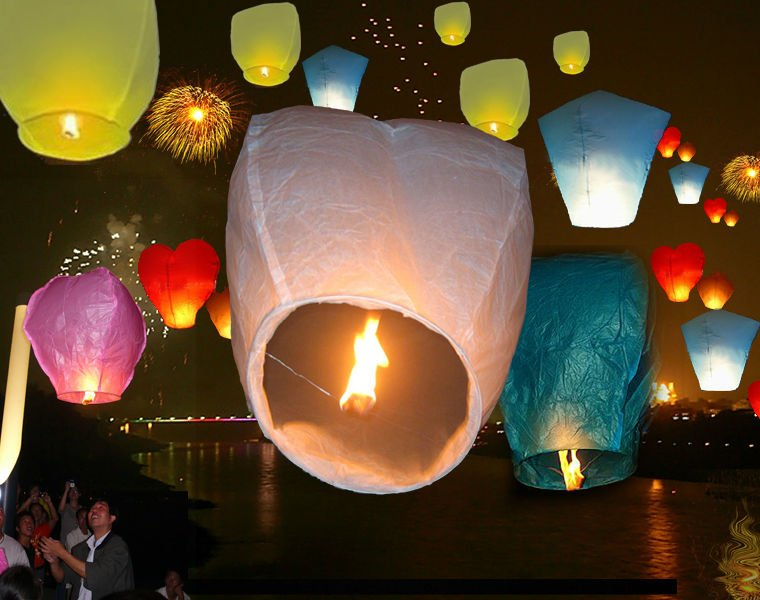 Hot sell fire retardant paper lantern,wishing paper flying sky lantern