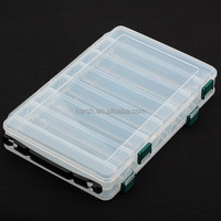 clear injection molded plastic fishing tackle box