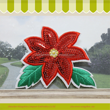 2017Embroidery mix sequin patch of flower design for clothing