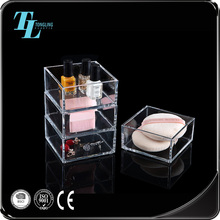 User-friendly small beauty organizer clear acrylic makeup storage box