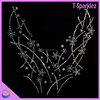 embroidery stone crystals necklace design motif for wedding dresses