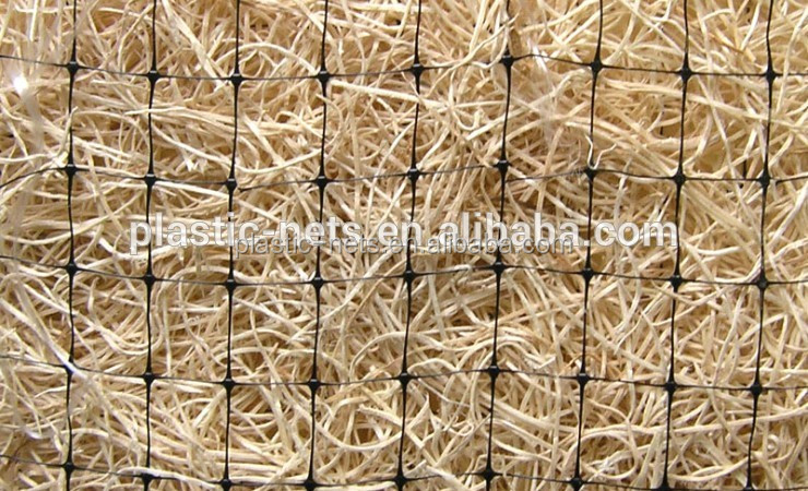 Green color pp material biodegradable netting plastic grass seed net