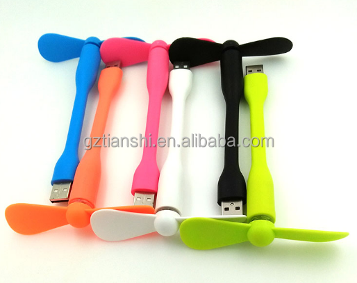 Newest arrivals 2017 2 blades iphone fan,mini usb fan for phone