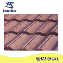 sancidalo brand Factory SONCAP classic type stone coated metal roof tile/ISO colorful stone coated metal roofing shingles