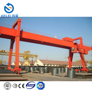 China crane manufacturer , electric trolley 25t double girder gantry crane