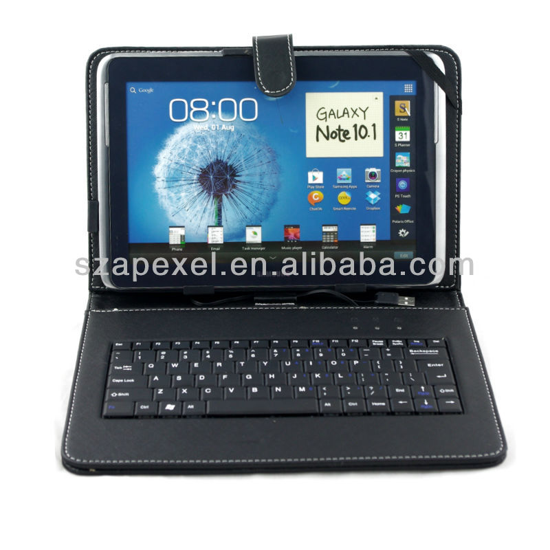 7 8 10.1 inch tablet USB Wired keyboard Cover