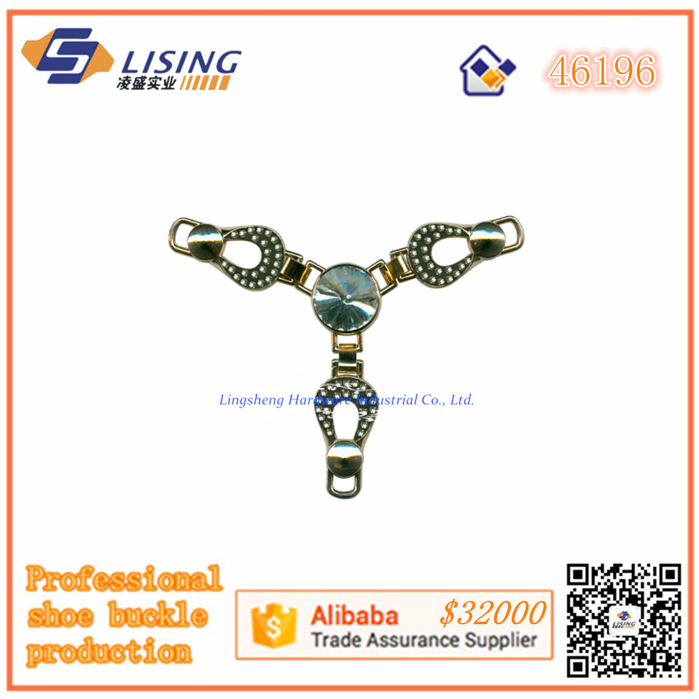 FuJian LS Latest fancy ladies stone shoes upper/sandal accessories buckle made in fujian China