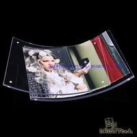 New Style 2016 new environment protection plastic curved wall mounted or table top photo frame ST-PFCM5070-01 Z1