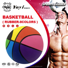 8 panel 8 colors promotion gift nature rubber basketball