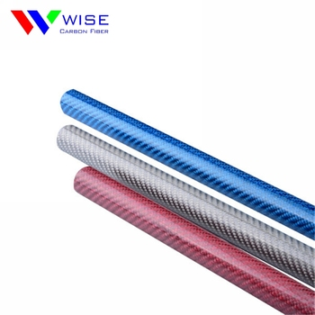 3K glossy silver/blue/Yellow/green/red/black carbon fiber tubes UK for sale