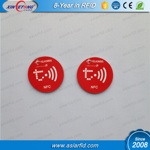 13.56MHz Ultralgiht Colourful Custom Logo printed PVC RFID Tag