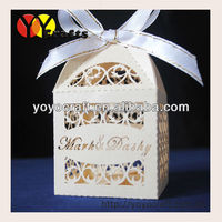 laser cut various colors filigree wedding supply MOQ 300pcs OEM service indian wedding favor boxes with free logo