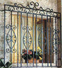 China manufacturer Simple Ornamental Wrought Iron Window Grill Design