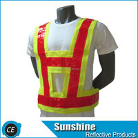 New High Visibility Construction Traffic Work Reflective Safety Vest