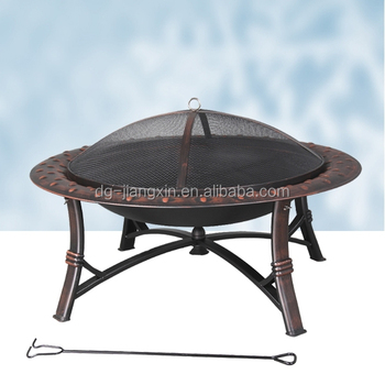 Outdoor Garden Antique Roman Fire Pit With Poker (JXF3521)