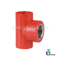 PP Female Thread Tees BS (Copper) water supply PP Pipe fittings