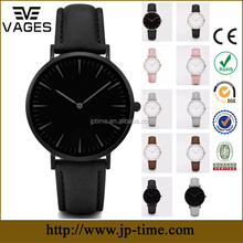 alibaba hot sale fancy make mens OEM brand black thin custom wrist watch stainless steel logo design manufacturer