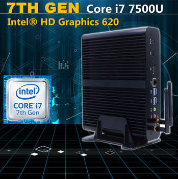 [Intel Core i7 7500U] Eglobal Newest Kaby Lake Fanless Micro Computer Mini PC Win10 Linux HD Graphics 620 4K HTPC TV Box