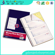 Money and Rent Receipt Book Carbonless 2 copies Spiral Bound invoice book