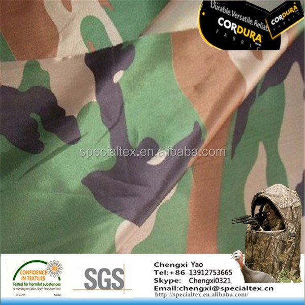 100D Ultra Light Anti IR Ripstop Nylon Camouflage Hunting Camping Disguised Fabric For Making Tents