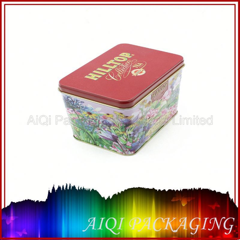 High quality bottom price square metal tin box with zipper