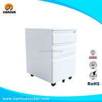 Factory cheap mobile metal pedestal file cabinet 3 drawer mobile pedestal