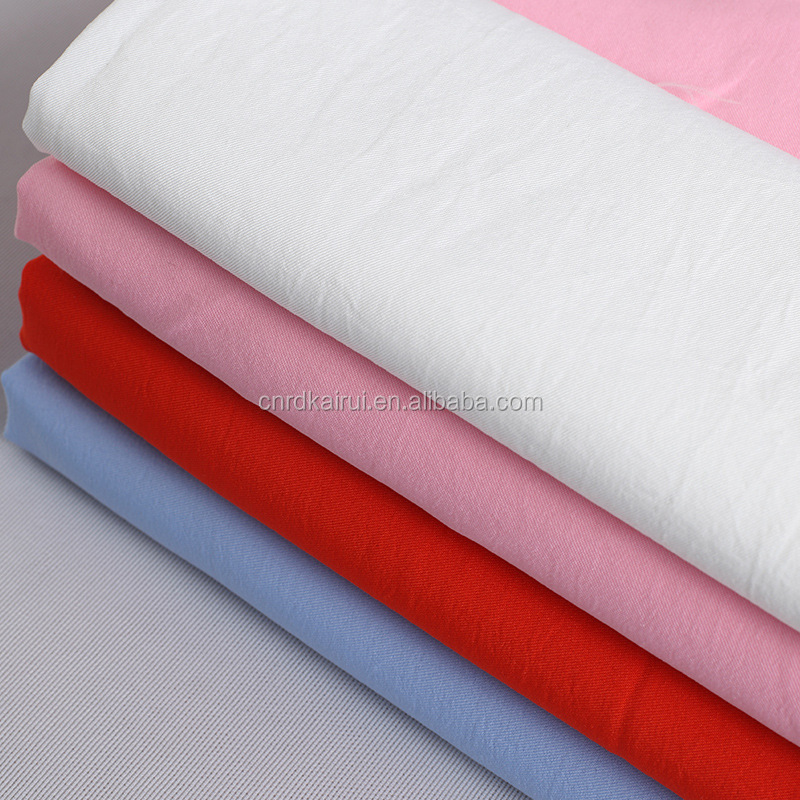 China Manufacturer Designer fashion dress acetate polyester twill fabric price per meter wholesale