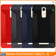 2017 New Product Silicone Carbon Fiber Protective Case for Mi Note 3