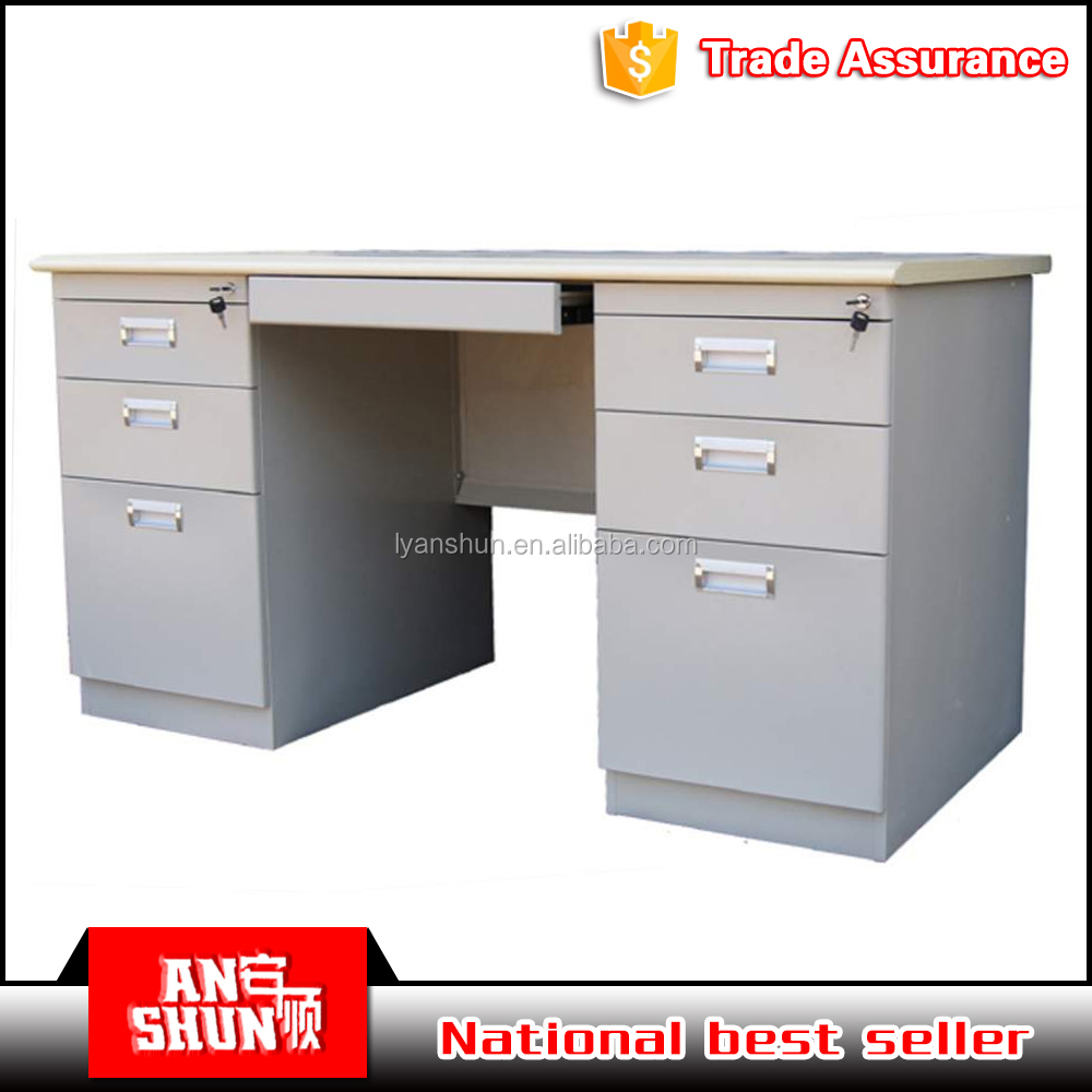 Factory direct supply KD steel executive office table design