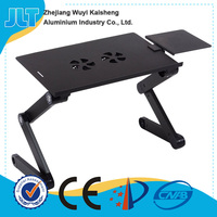 Black and silver color laptop stand with 5V USB powered fans for the 17 inch laptop